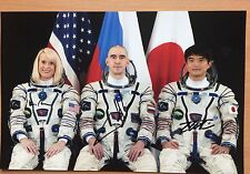 "New! Soyuz MS/ISS-48 (2016) IVANISHIN, ONISHI, RUBINS sgn photo 8""x12"""