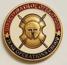 "CIA NCS / Directorate of Operations Iraq Operations Grp 2003 1.75"" Antique Brass"