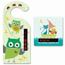 Baby Owl Room Thermometer with  owl & pussycat bath thermometer - Moving line
