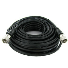 50' UHF Male to UHF Male Molded Connectors Mini-RG8x Cable PL-259 PL259