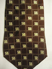 Executive Collection Red Gray Checks Squares Design Silk Tie 58""