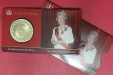 2006 New Zealand UNC $1 coin Queen 80 birthday mintage only 2000 (322/2721C8)