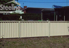 Colorbond Fence Panels 2.1m x 2.38m DIY Sawtooth Fencing Panel Kits **NEW**
