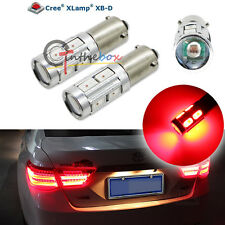 2PCS Red 3W CREE w/ 8-SMD 120° Bay9s H21W 64136 Car Auto LED Lights Bulbs
