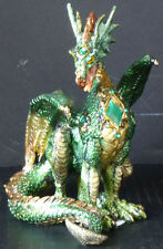 STAUNCH  Green Dragon with Jewel     H6.5""