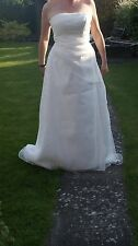 Organza layeted Amanda Wyatt strapless wedding dress Beautiful new -size 14