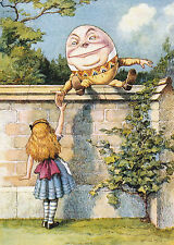 8x10 Print ALICE IN WONDERLAND HUMPTY DUMPTY on Wall LEWIS CARROLL Nursery Rhyme