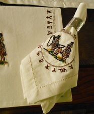 WESTERN TABLE NAPKINS TEAM ROPER EMBROIDERED BRANDED DESIGN 20X20 100% COTTON