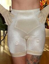 Vintage Bali Firm Control Thigh Slimmer Long Leg Girdle with garters Ivory  Lg