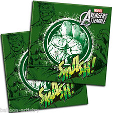 20 Marvel's AVENGERS Green HULK Teen Party 33cm Paper Luncheon Napkins