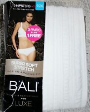 2XL  9  WHITE  3 Bali Lux Hipsters Pantys  Retail $ 22. 00. Super soft.