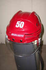 PHOENIX COYOTES Antoine Vermette game-worn red home Bauer helmet 2011-12 season