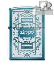 Zippo 6341 Quality Since 1932 Blue Lighter with PIPE INSERT PL