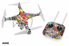 DJI Phantom 3 Drone Wrap RC Quadcopter Decal Sticker Custom Skin Accessory BOMB