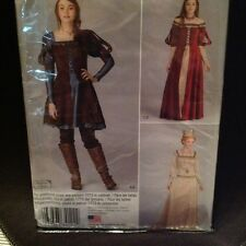 C1773 Simplicity Sewing Pattern Misses' Medieval Renaissance Costume Dress 6- 14
