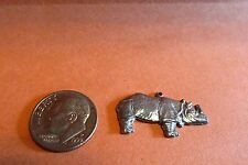 Fifty Pewter Rhinoceros Charms