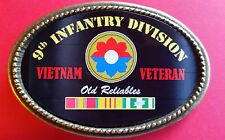 "Vietnam Veteran 9th INFANTRY DIVISION ""Old Reliables""  Epoxy Belt Buckle - NEW"