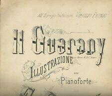 Spartito Musicale Il Guarany Illustrazione per Piano Ernesto Becucci G. Ricordi