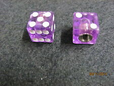 Dice, Clear Purple, use on your Schwinn Bicycles valve stem, all other bikes