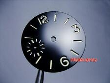 HR BLACK 44mm MARINA NAVY SANDWICH WATCH DIAL for UNITAS ETA 6497 ST36 Movement