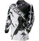 Oneal Element Long Sleeve Sleeved DH Downhill MTB Bike Jersey Black White Medium