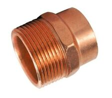 """(Bag of 2) 2"""" Copper Male Adapter Sweat Solder Joint C x MIP"""