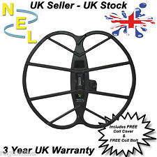 "NEL Coil Big 15"" x 17"" for Fisher Gold Bug inc cover - Metal Detecting"