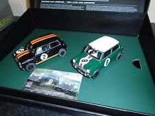 "Scalextric C3586a ""Legends "" 1964 ATCC Mini Coopers twin pack   m/b"