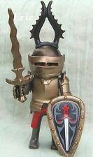 PLAYMOBIL figurine KNIGHTS le chevalier du loup casque corne bouclier épée
