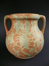 BURLEY WINTER POTTERY American Arts & Crafts VASE #54 Matte Copper Green LOVELY
