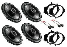 NEW S/4 PIONEER CAR TRUCK FRONT & REAR DOOR SPEAKERS W/ MOUNTING INSTALL KITS