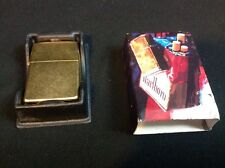 Marlboro Brass Colored Zippo Lighter. Free Shipping
