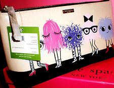 KATE SPADE NEW YORK IMAGINATON MONSTER PARTY LARGE SHILOH MAKEUP CASE~$98~CUTE