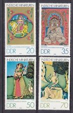 Germany DDR 2005-08 MNH1979 Indian Miniatures in Berlin Museums Full Set VF