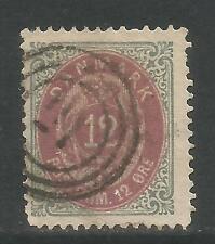 Denmark 1875-79 12o gray & dull magenta (29b) used