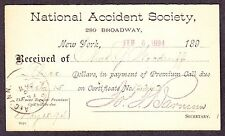 National Accident Society Insurance Advertising Cover (-384)