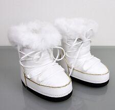 New Authentic Gucci Kids Fur Trim Boot w/Interlocking G, 24/US 8, 298368