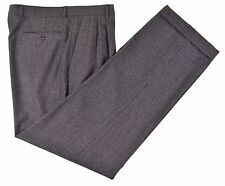 Zanella Brent Made in ITALY Gray Houndstooth WOOL CASHMERE Dress Pants 36 x 32