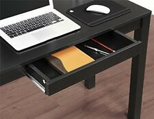 Study Desk With Drawer Black Finish Computer Table Student Dorm Room Small Space