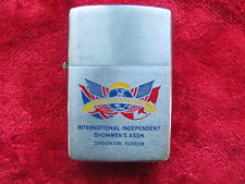 Zippo Lighter 1977 Advertising Intl Independent Showmens Assn, Excellent