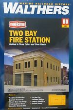"Walthers HO #4022 Two-Bay Fire Station -- Kit - 8 x 4-7/8 x 5-1/2""  (Kit)"