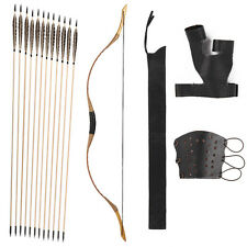 Nice Set China Traditional Longbow 20-80LBS 12 arrows Finger and Arm Guard