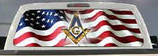 AMERICAN FLAG FREEMASON PICK-UP TRUCK BACK WINDOW GRAPHIC MASONIC DECAL