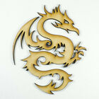 MDF Wood Wooden Shape / Shapes Dragon Cutout for Craft Home Room Decor Fun Kids
