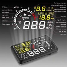 "New 5.5"" Car OBD2 II Bluetooth HUD Display Head Up MPH KMH Speed Warning System"