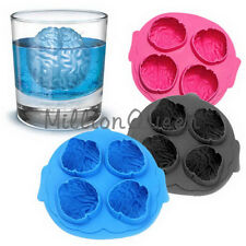 Freeze Ice Cube Tray Mold Cool Drink Party Dining Bar Novelty Brain Shape Mold