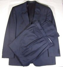 LONDON FOG LUXURY MENS BLACK CASHMERE WOOL  SUIT SIZE 42L