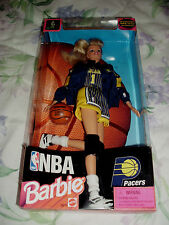 1998 NBA INDIANA PACERS BARBIE DOLL W/AUTHENTIC TEAM UNIFORM MATTEL #20712 NIB