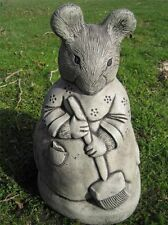Miss Tittle Mouse Beatrix Potter stone garden ornament |   VISIT MY SHOP