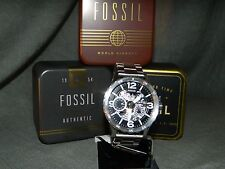 Fossil Men's Nate Hand-Wound Mechanical Stainless Watch ME3129 NEW IN BOX!!